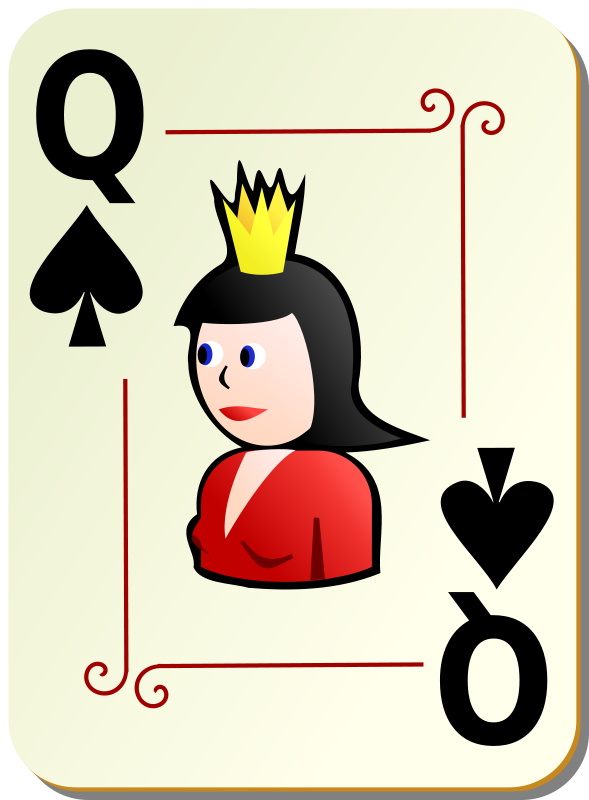 Free Ornamental deck: Queen of spades