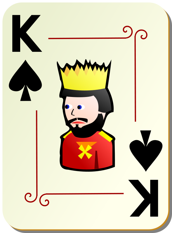 Free Ornamental deck: King of spades