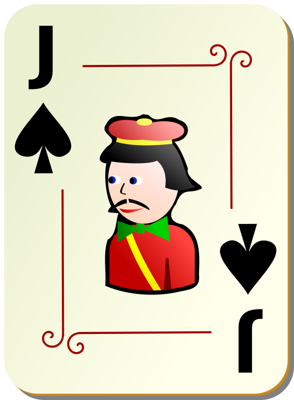 Free Ornamental deck: Jack of spades