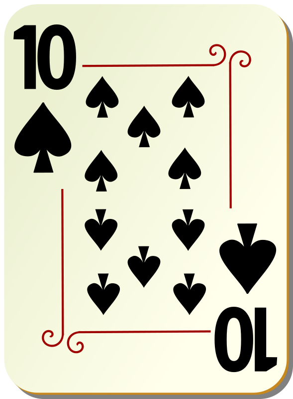 Free Ornamental deck: 10 of spades