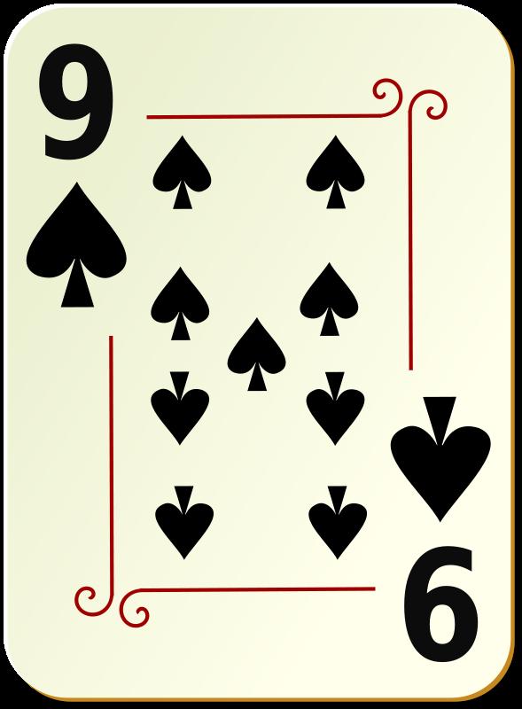 Free Ornamental deck: 9 of spades