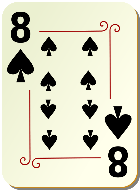 Free Ornamental deck: 8 of spades