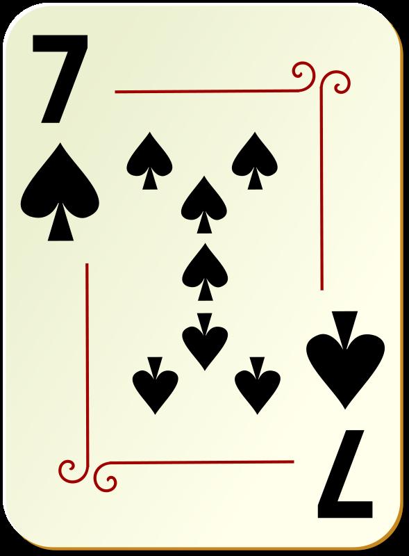 Free Ornamental deck: 7 of spades