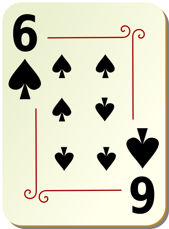 Free Ornamental deck: 6 of spades