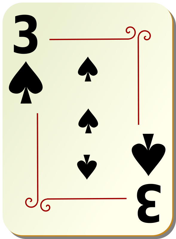 Free Ornamental deck: 3 of spades