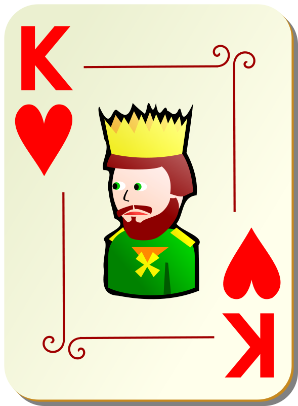 Free Ornamental deck: King of hearts