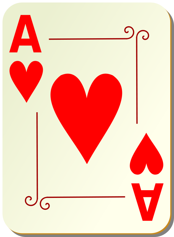 Free Ornamental deck: Ace of hearts