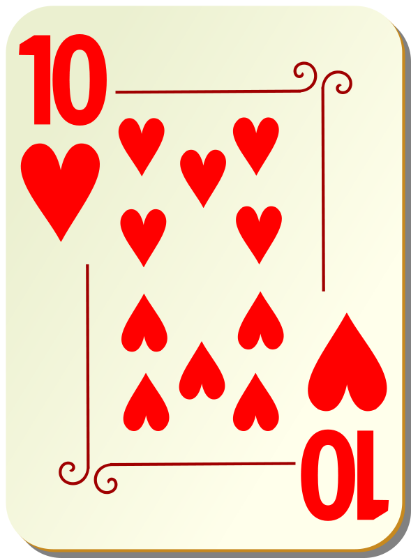 Free Ornamental deck: 10 of hearts