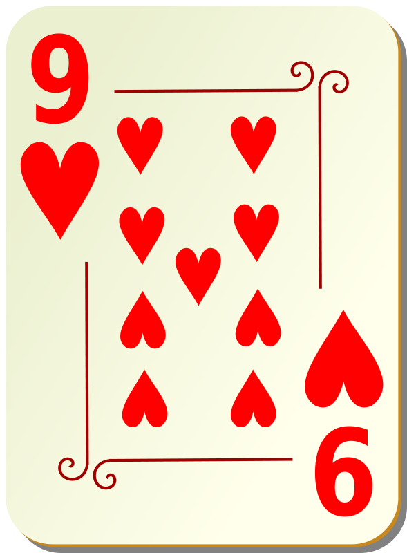 Free Ornamental deck: 9 of hearts
