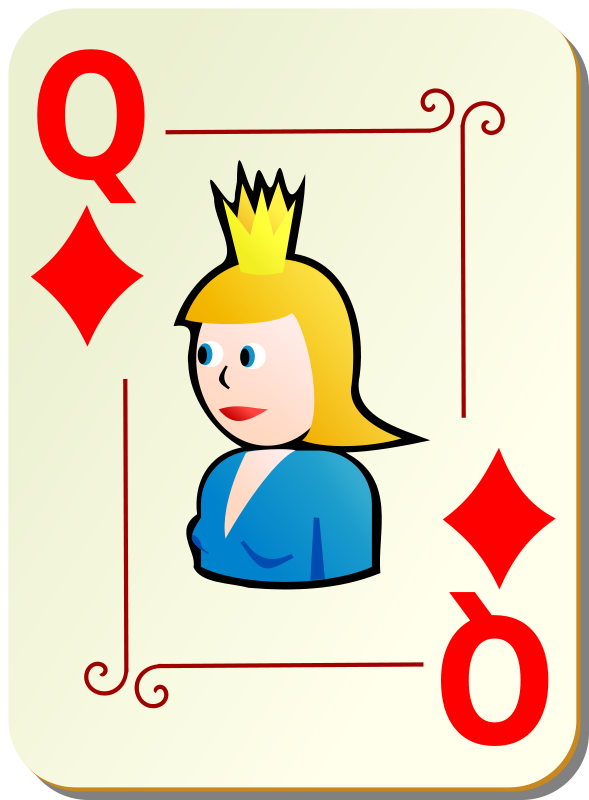 Free Ornamental deck: Queen of diamonds