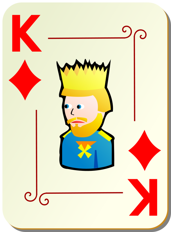 Free Ornamental deck: King of diamonds