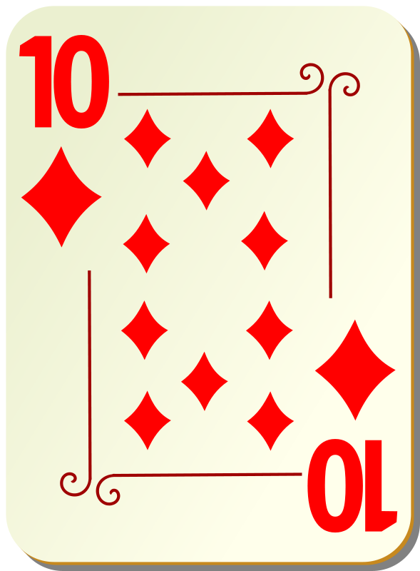 Free Ornamental deck: 10 of diamonds