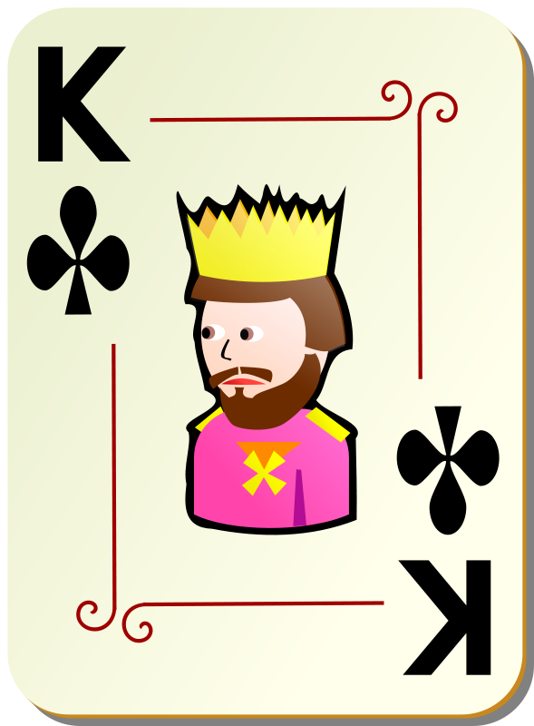 Free Ornamental deck: King of clubs
