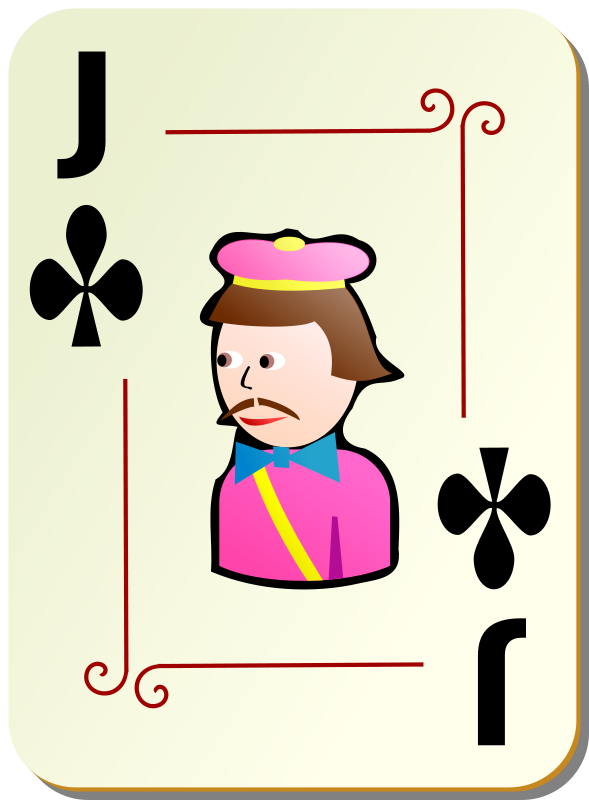 Free Ornamental deck: Jack of clubs