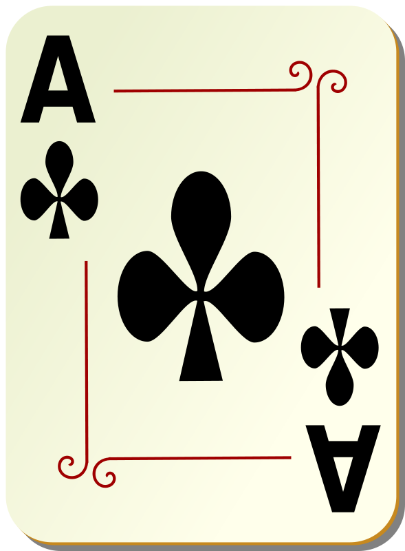 Free Ornamental deck: Ace of clubs