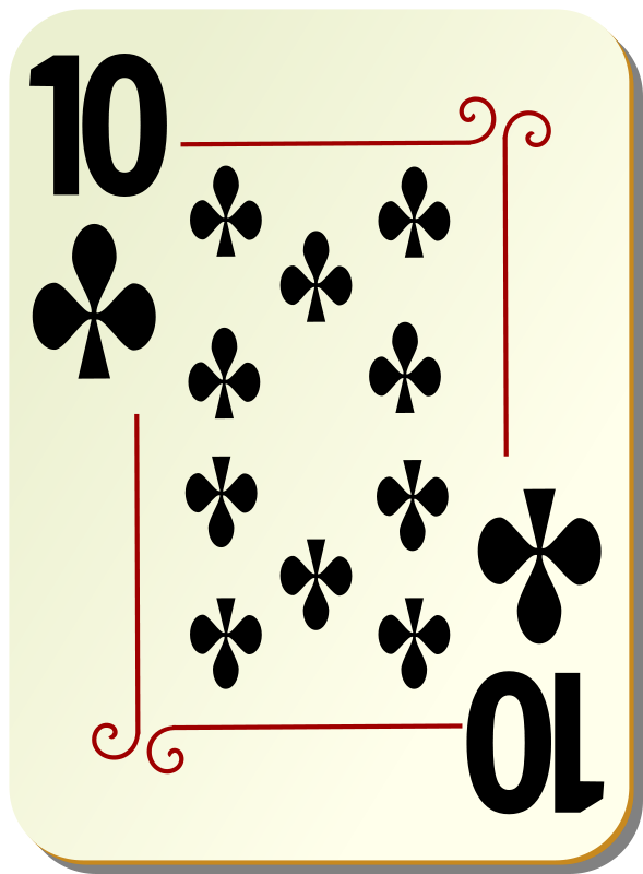 Free Ornamental deck: 10 of clubs