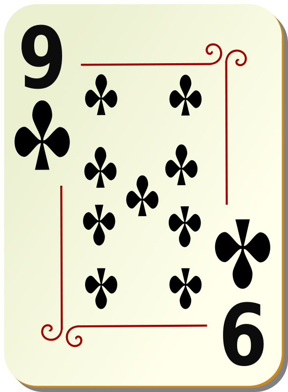 Free Ornamental deck: 9 of clubs