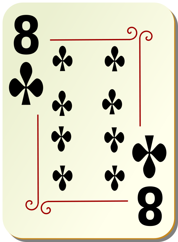 Free Ornamental deck: 8 of clubs