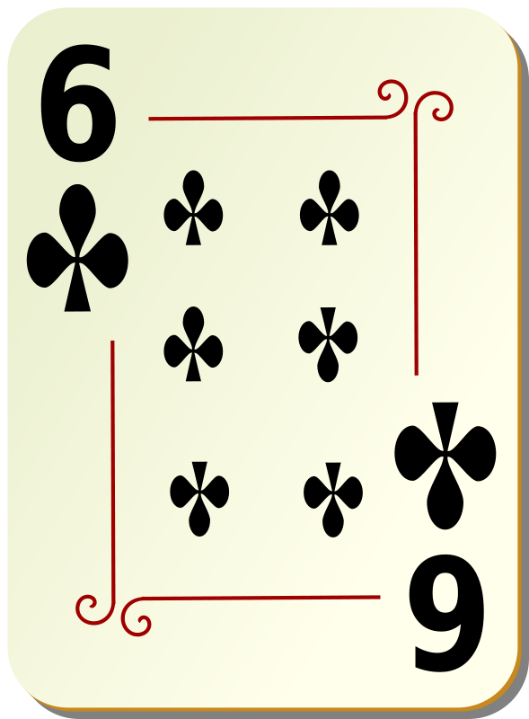 Free Clipart: Ornamental deck: 6 of clubs | nicubunu