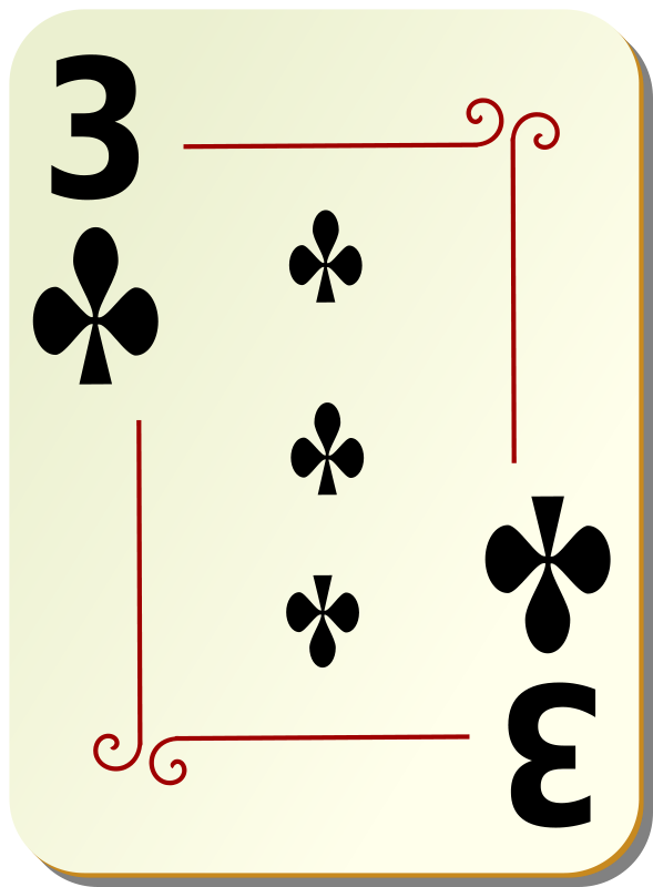 Free Ornamental deck: 3 of clubs