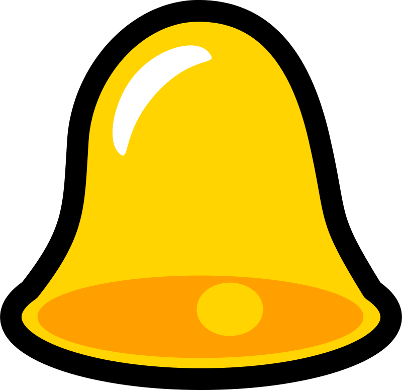 Free Yellow Bell Icon that looks cool with lots of title words to increase the titles space in an unrealistic test!