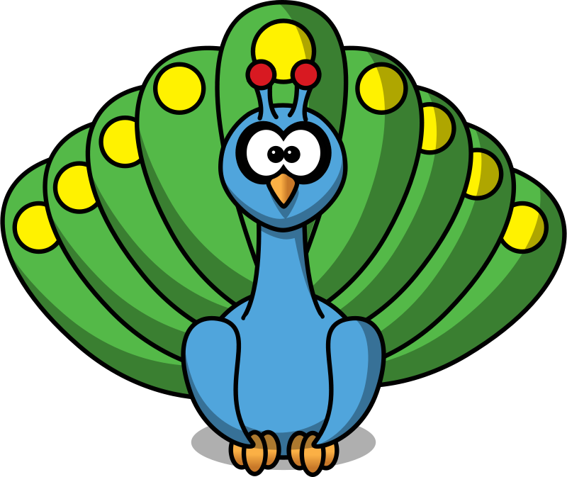 Free Clipart: Cartoon peacock | StudioFibonacci