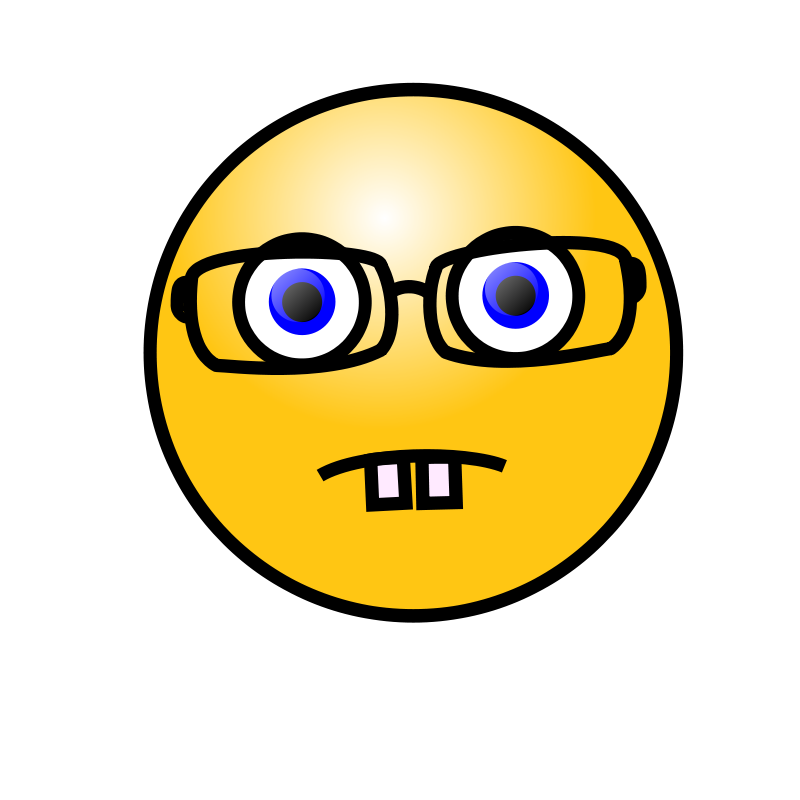 Free Emoticons: Nerd face
