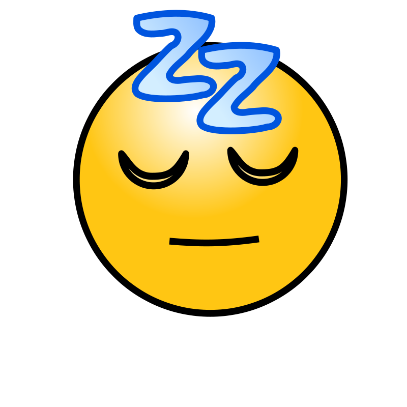 Free Emoticons: Sleeping face