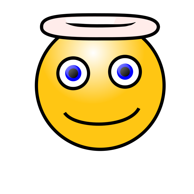 Free Emoticons: Angelic face