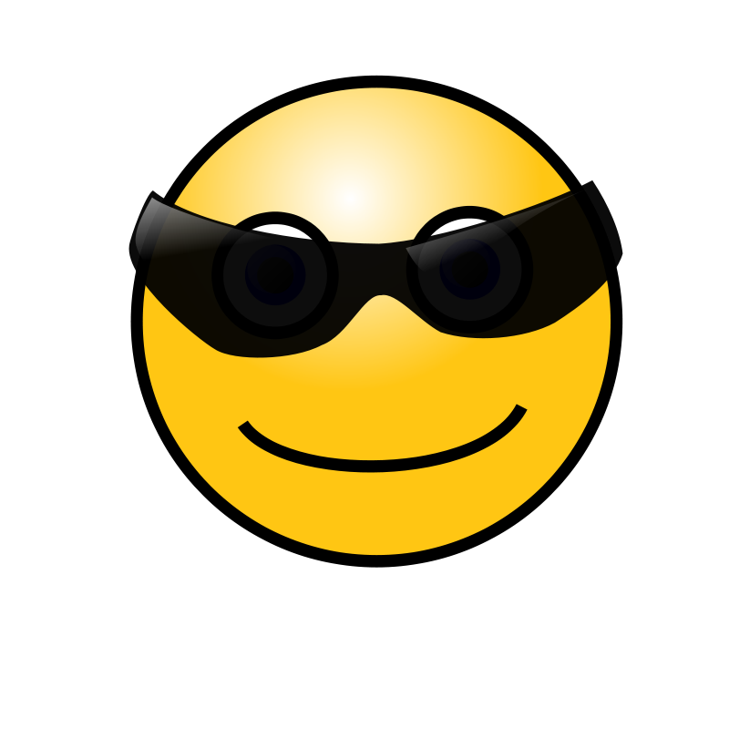 Free Emoticons: Cool face