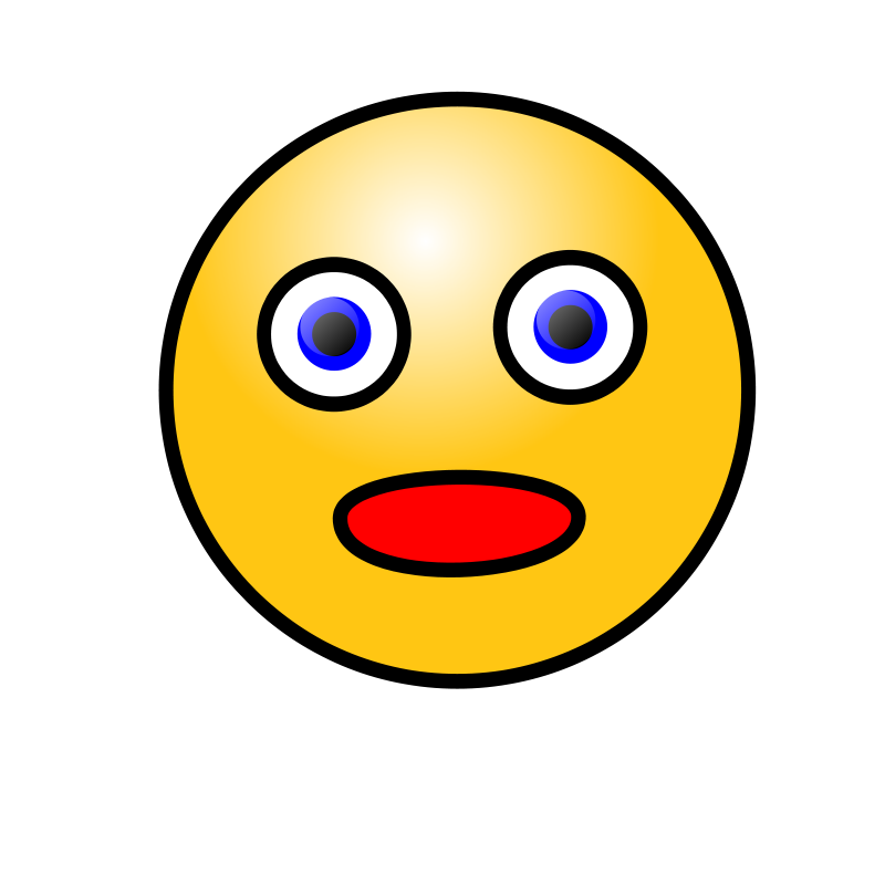 Free Emoticons: Amazed face