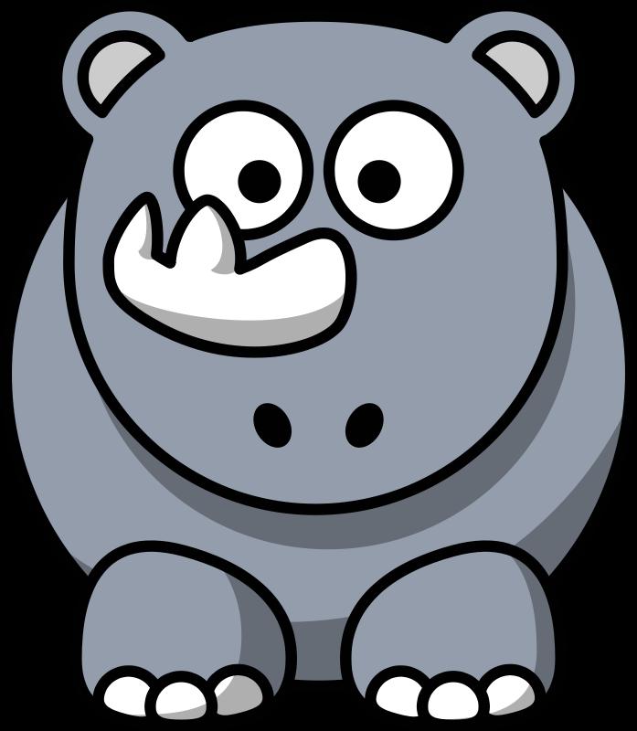 Free Cartoon rhino