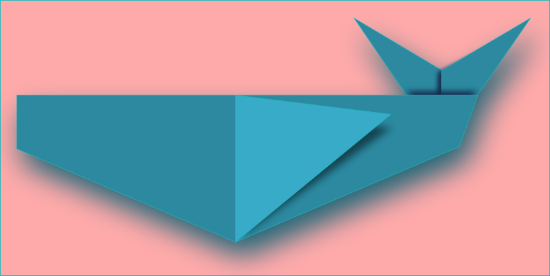 Free whale origami