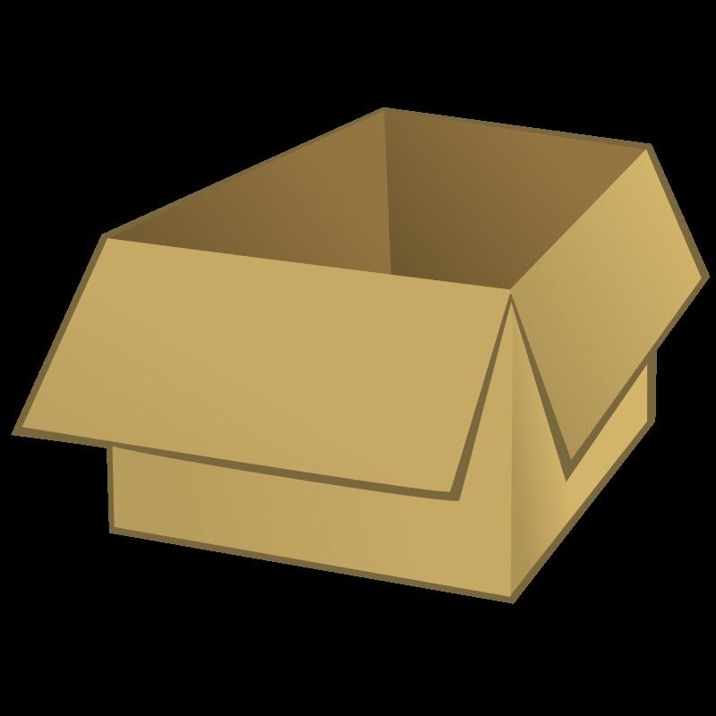 Free Clipart Open Box Nicubunu