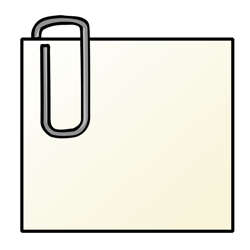 Free Clipart: Note with paperclip | nicubunu