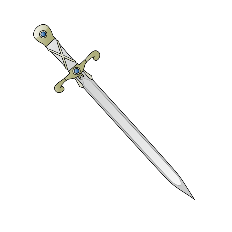 Free Clipart: Long sword | nicubunu