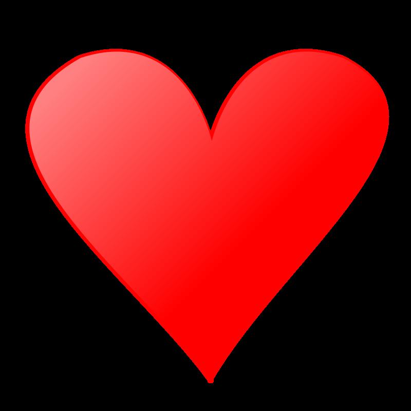 Free Clipart: Card symbols: Heart | nicubunu