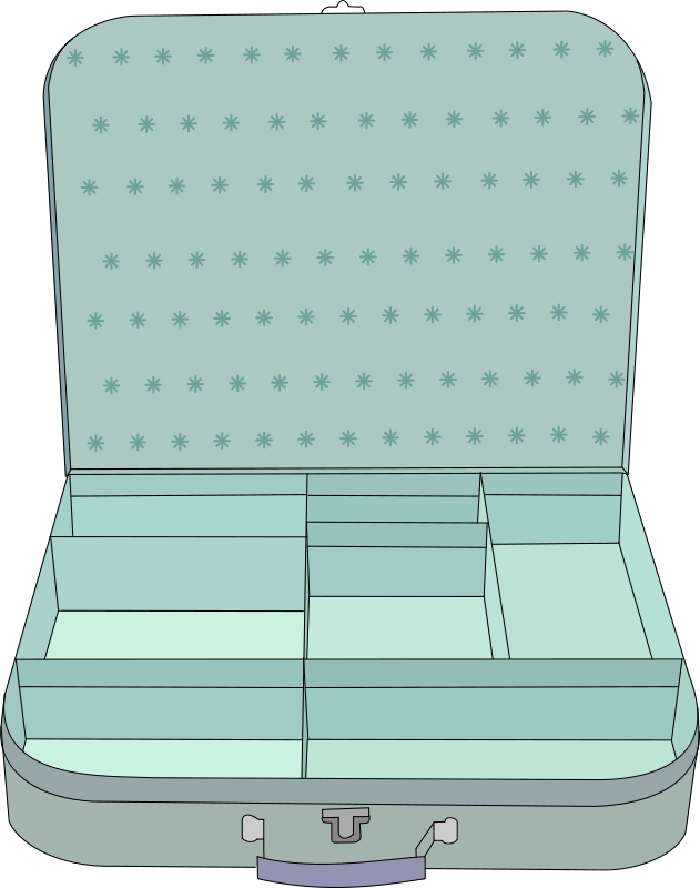 Free suitcase with compartment