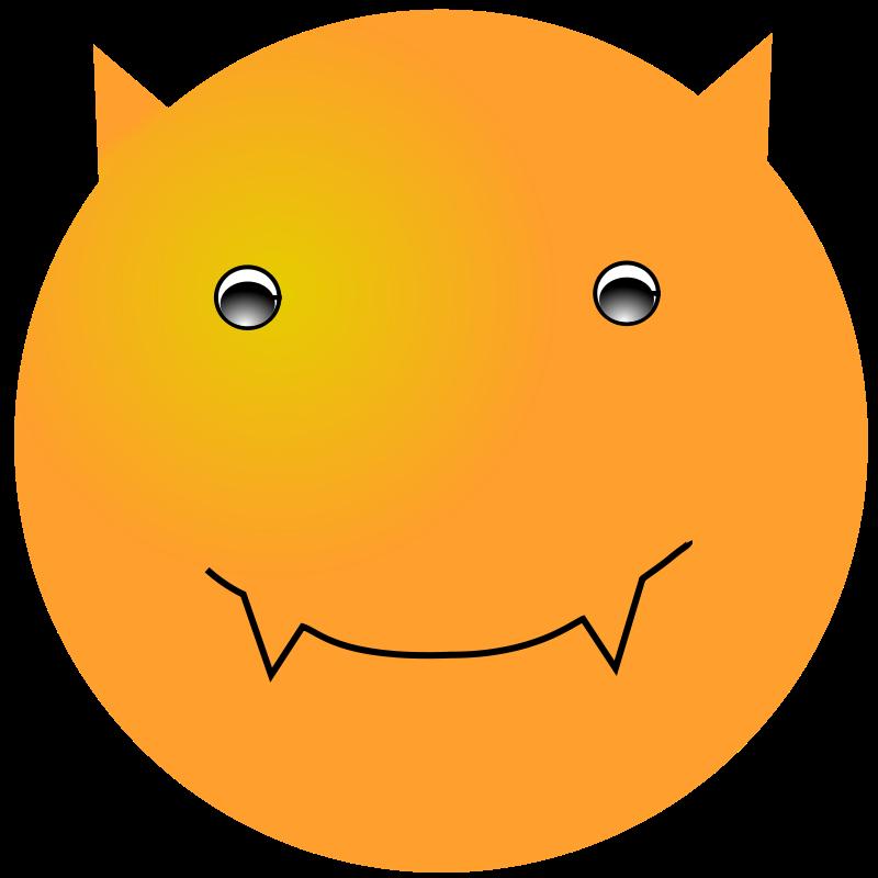 Free Clipart: Smiley: Devil | nicubunu