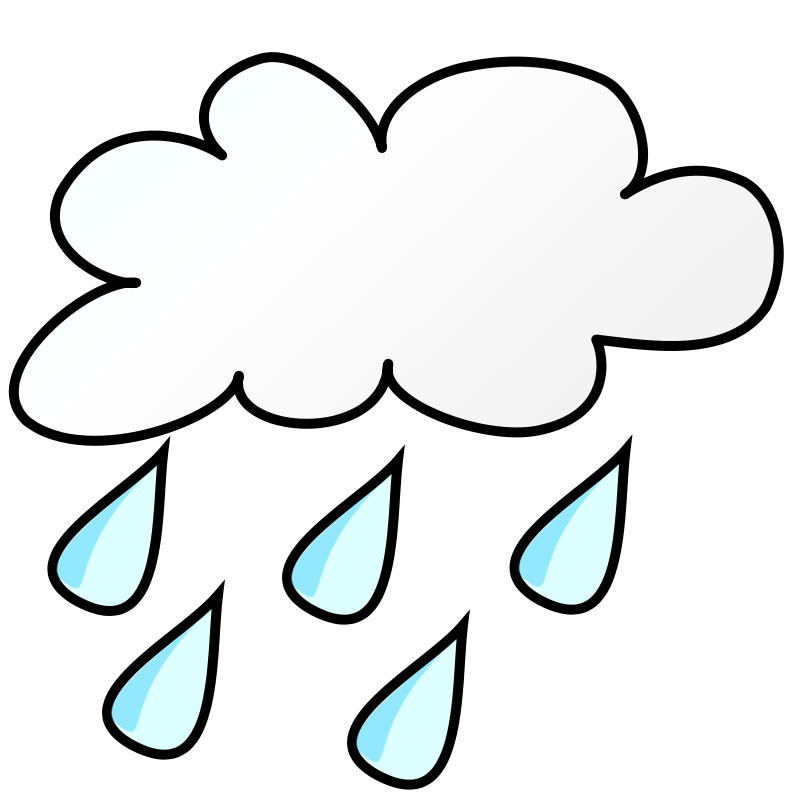 Free Clipart Weather Symbols Rain Nicubunu