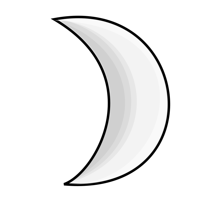 Free Weather Symbols: Moon (silver)