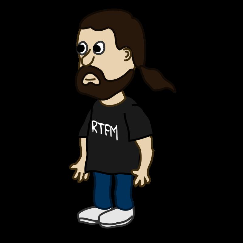 Free Comic characters: Bearded guy