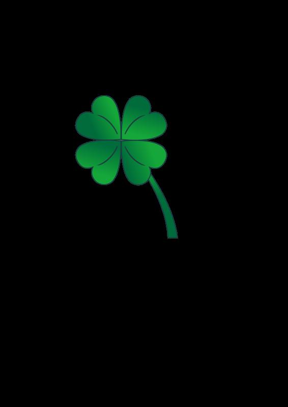 Free 4 Leaf Clover Gradient