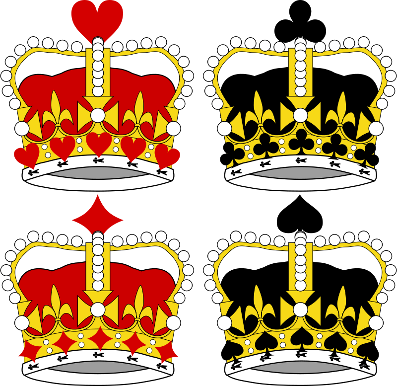 Free Clipart: Stylized Crowns for Card Faces | momoko