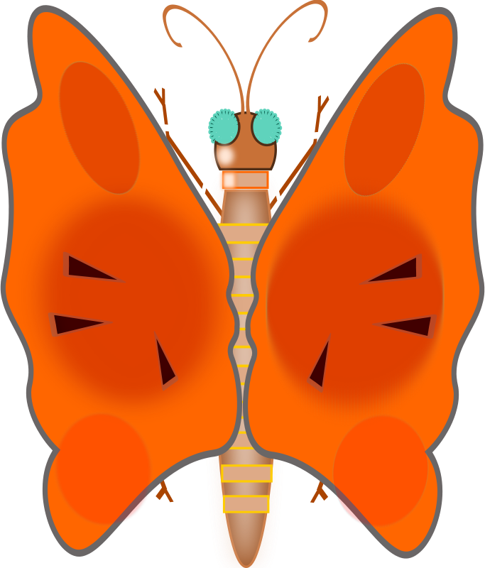 Free Clipart: Butterfly | zesarvictoria