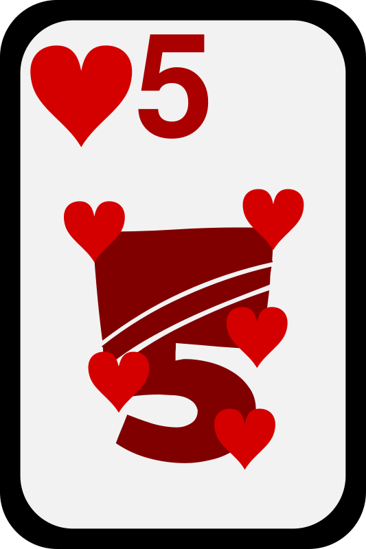 Free Five of Hearts