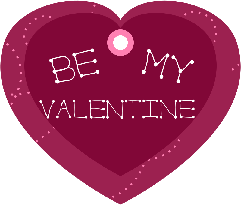 Free Be My Valentine Heart Shaped Gift Tag