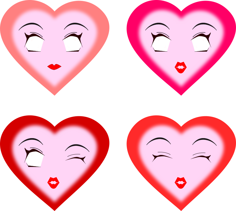 Free heart faces