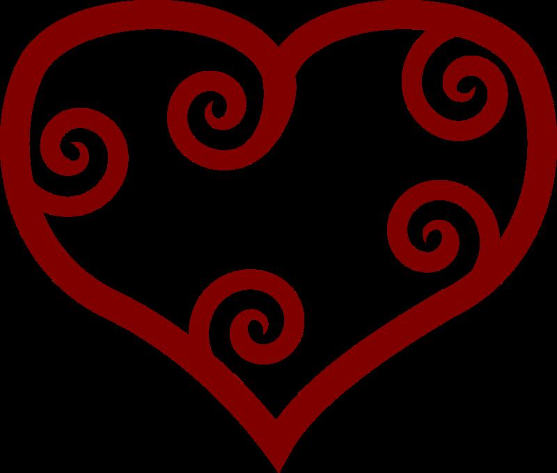 Free Valentine Red Maori Heart