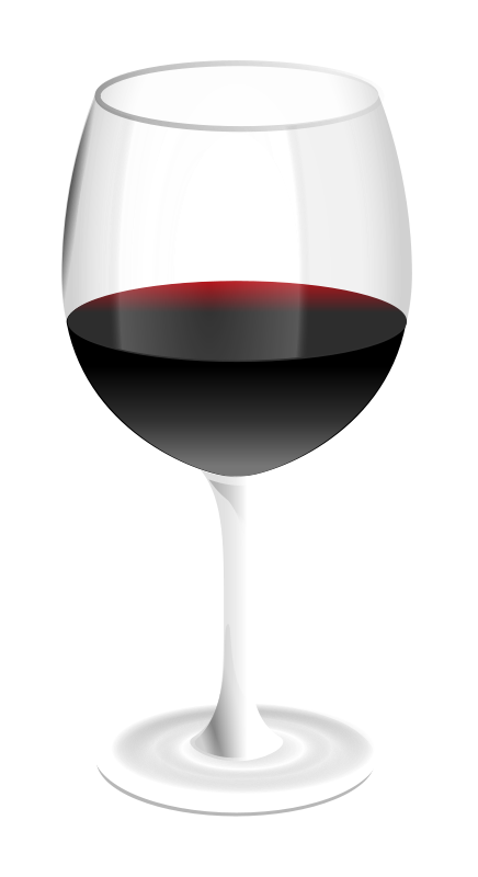 Free red wine glass